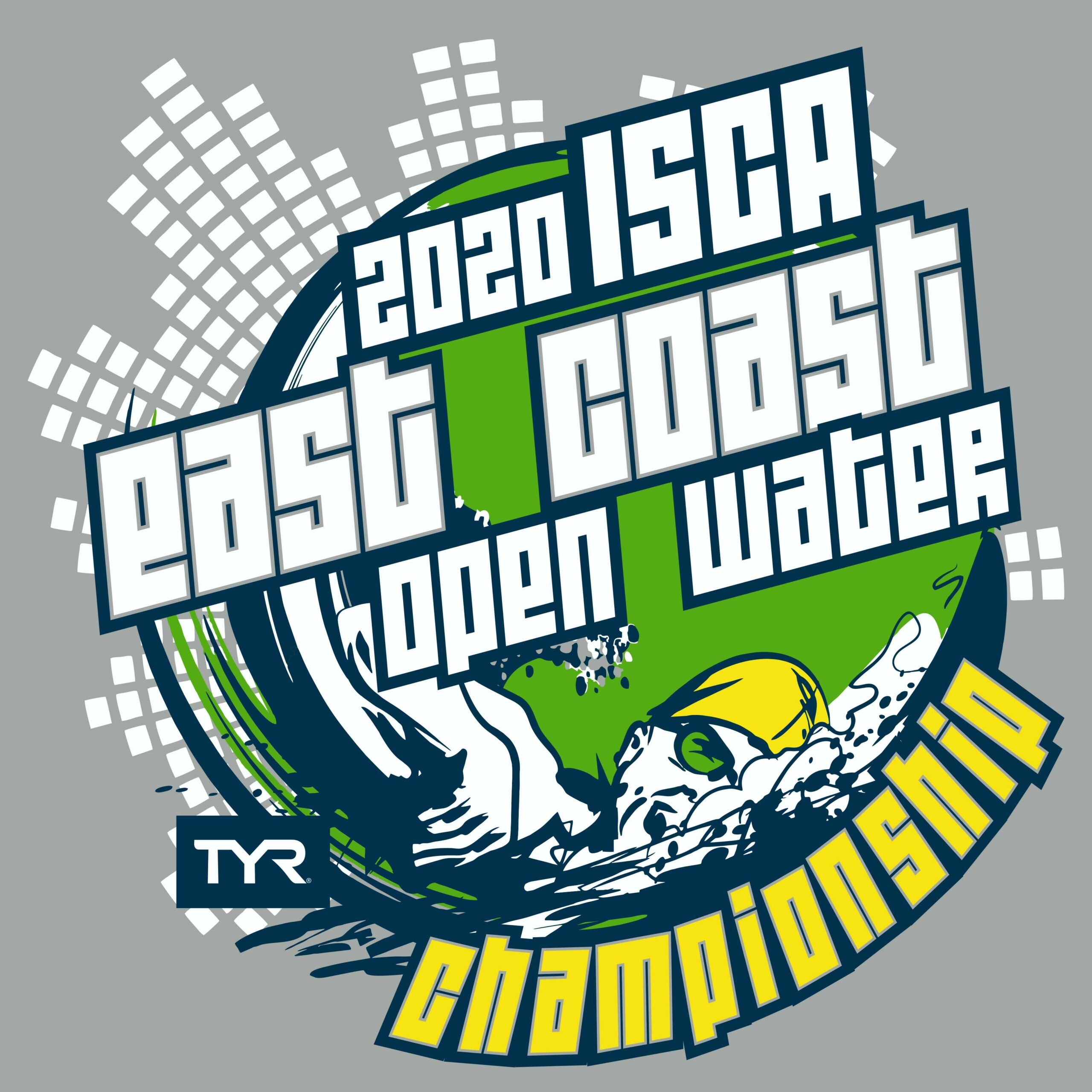 Logo for the East Coast Open Water Swim Championships in October 2020