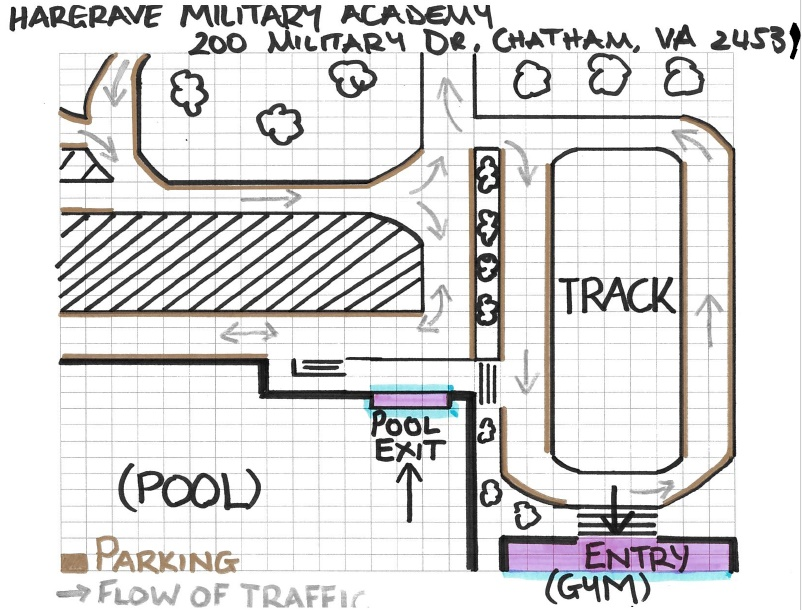 Hargrave Military Academy, simple map, p 1 of 2