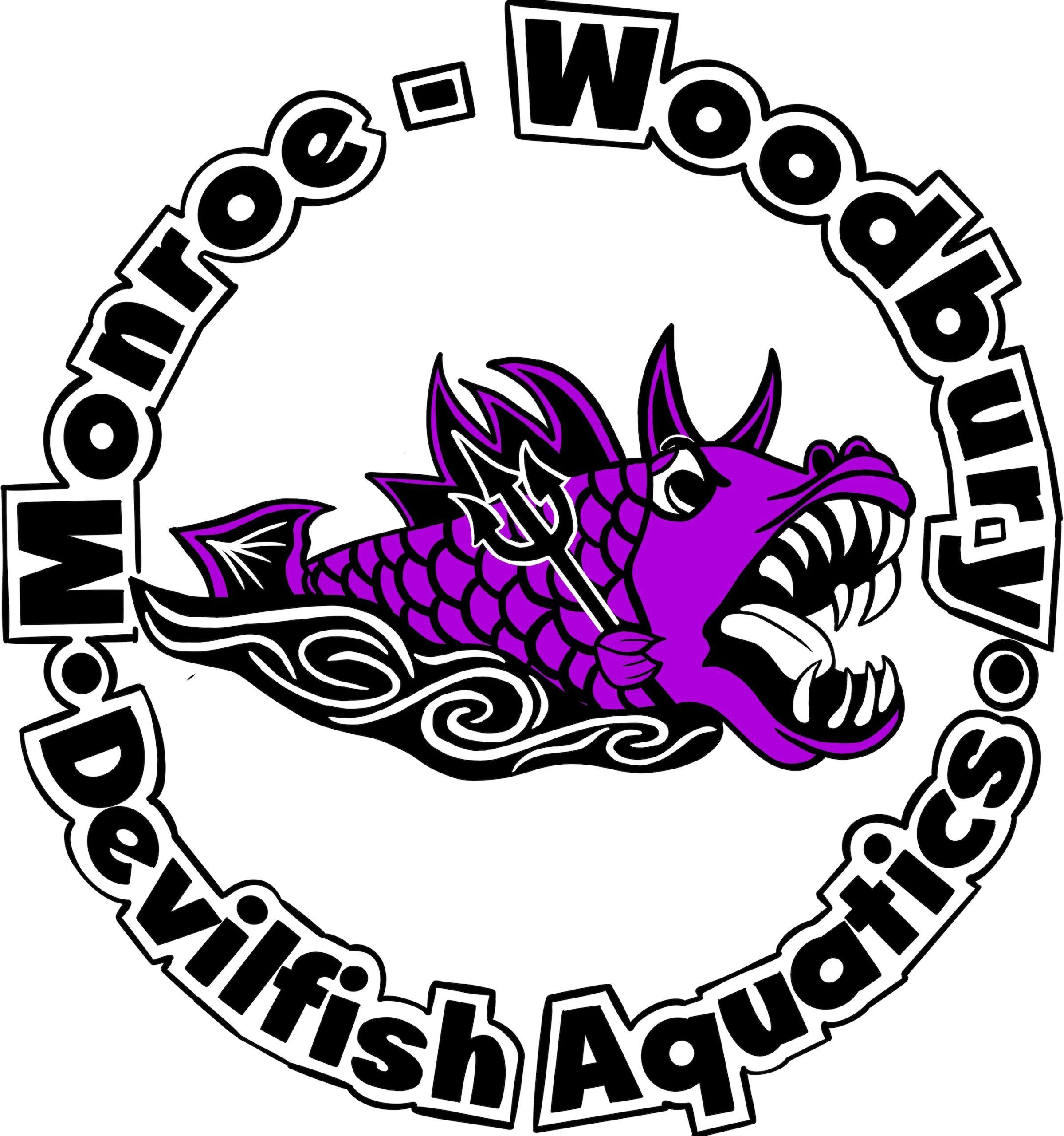 Monroe - Woodbury Devilfish Aquatics logo