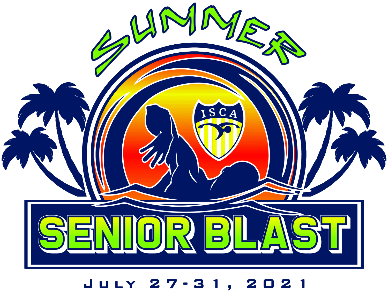 ISCA Summer Senior Blast, 2021, swim meet logo