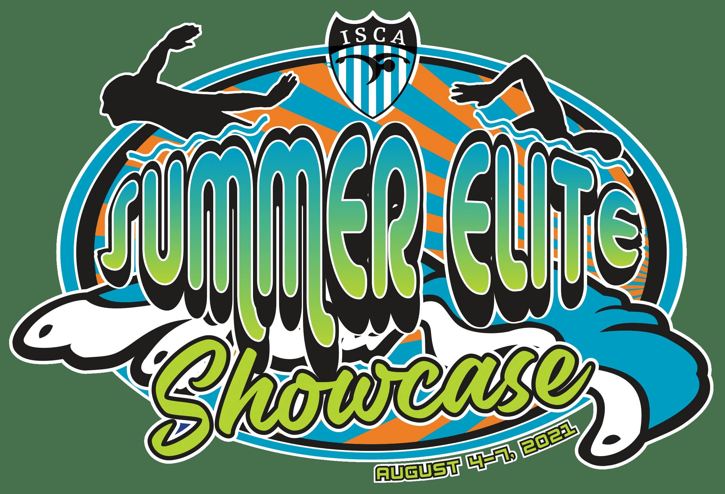 ISCA Summer Elite Showcase 2021 swim meet logo